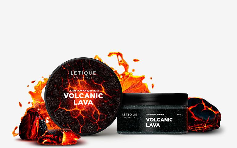 Скраб-маска разогревающая для тела Letique Cosmetics Volcanic Lava 200 мл