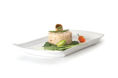 Блюдо прямоугольное сервировочное 340*184мм Concavo