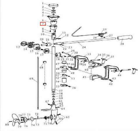 Корзина сцепления для лодочного мотора T3,5 Sea-PRO