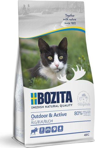 Bozita Outdoor & Active Сухой корм для активных кошек с мясом лося