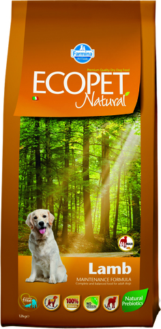 Farmina Ecopet Natural Lamb Maxi Сухой корм для взрослых собак крупных пород с ягненком