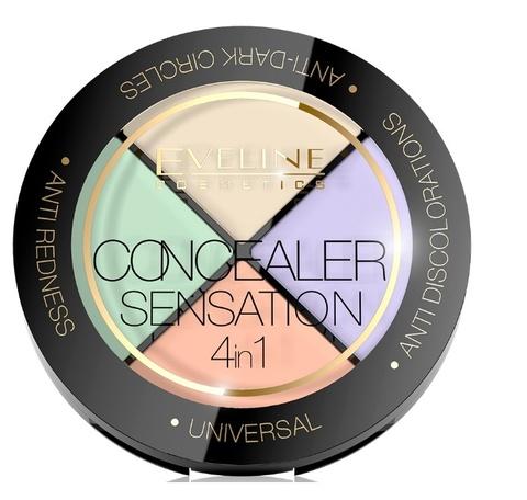 EVELINE Набор корректоров для макияжа лица серии CONCEALER SENSATION 4в1,12г