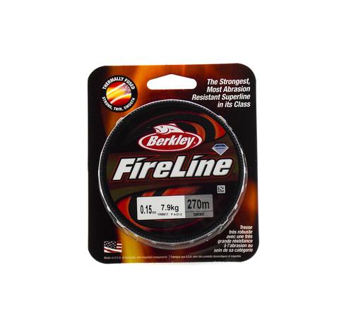 Плетеная леска Berkley Fireline Темно-серая 270 м. 0,15 мм. 7,9 кг. Smoke (1308617)