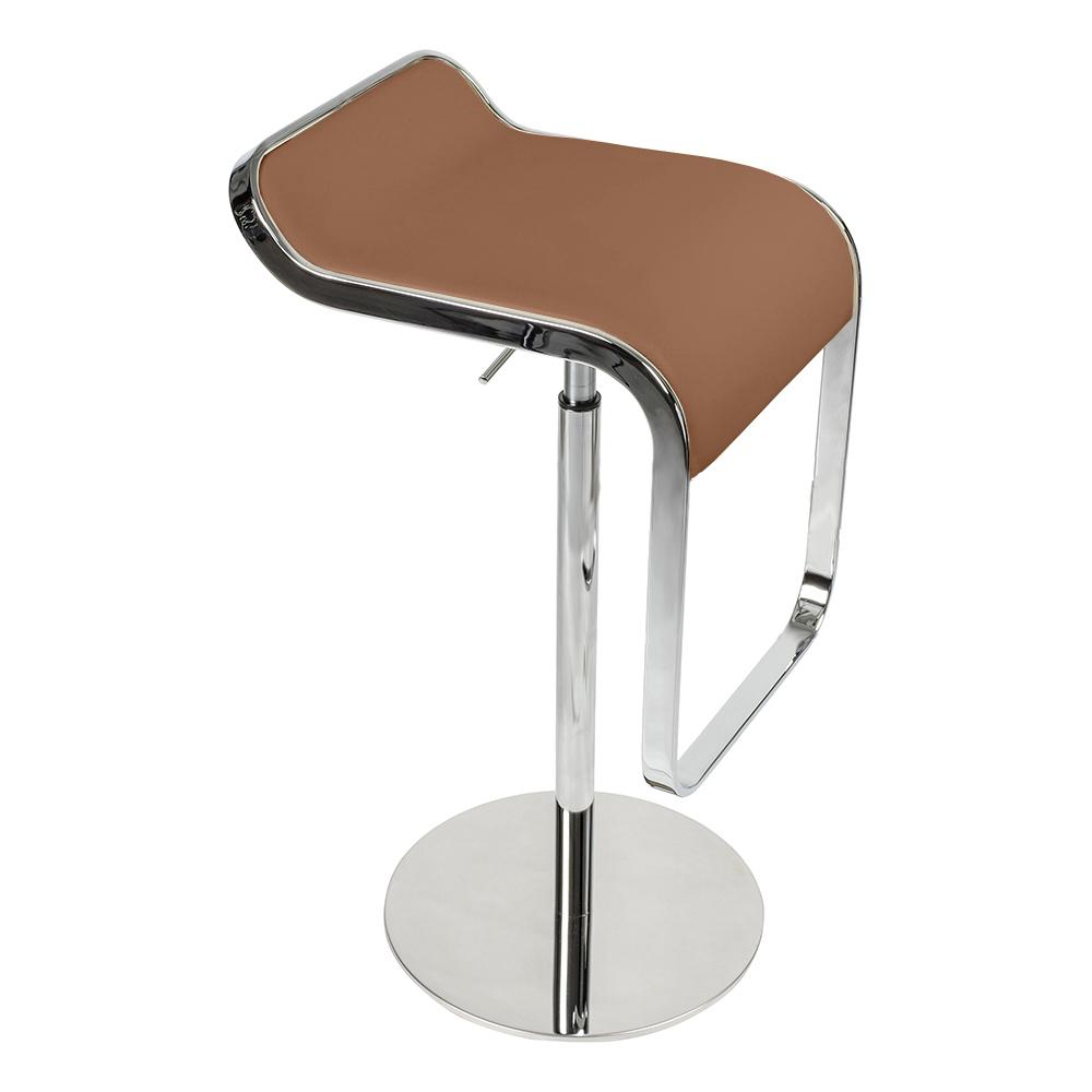 Барный стул LEM Style Piston Stool коричневая кожа - вид 1