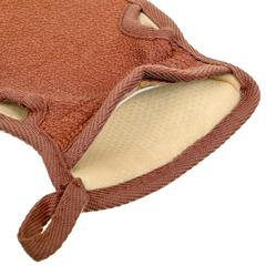 Мочалка «Королевский пилинг», рукавица двусторонняя на резинке,  13,5х23 см