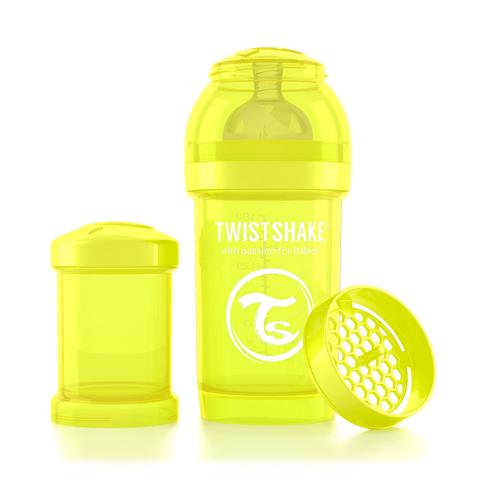 Twistshake бутылочка антиколиковая 180 мл. Жёлтая (Starlight)