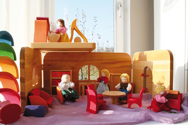 Переносной дом, розово-оранжевый