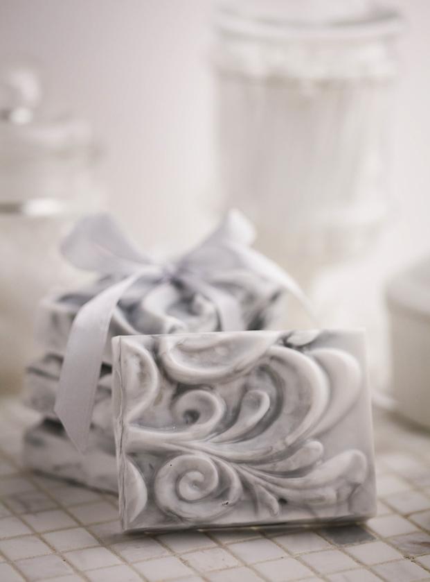 Мыло Орнамент, одноцветное рельефное