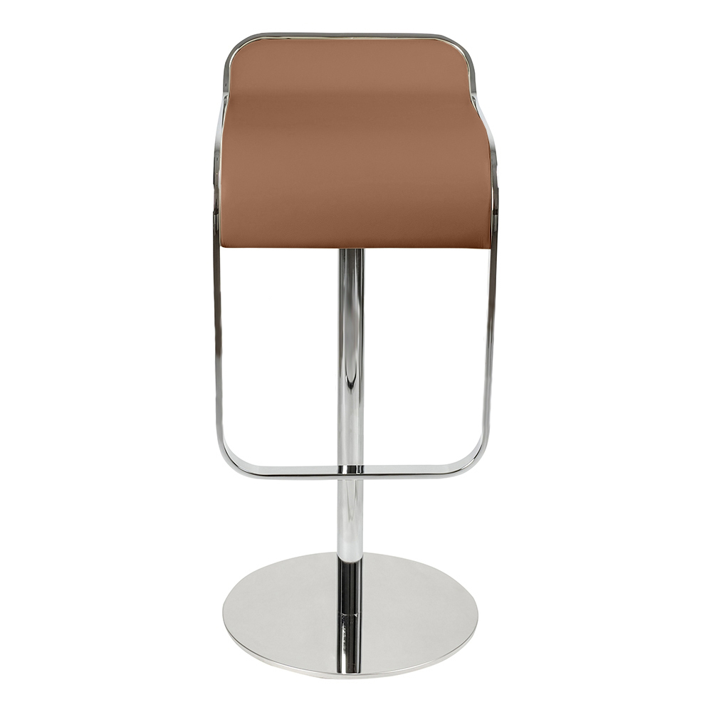 Барный стул LEM Style Piston Stool коричневая кожа - вид 2