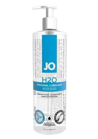 Лубрикант на водной основе JO Personal Lubricant H2O с дозатором - 480 мл.