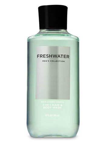 Гель для душа мужской Bath&BodyWorks Freshwater Men's Collection Hair & Body Wash 295 мл