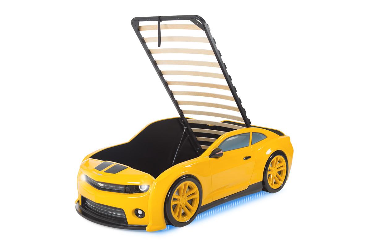 """Кровать-машинка объемная EVO """"Camaro"""" желтый"""