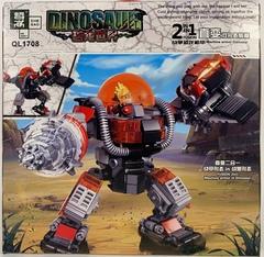 Парк Юрского Периода QL1708 Робот Динозавр 2в1, 381 дет. Конструктор