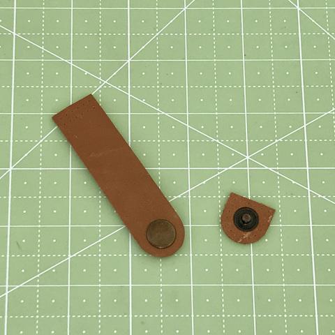 Ремешок для кошелька на кнопке 8 см. (Светло-коричневый)