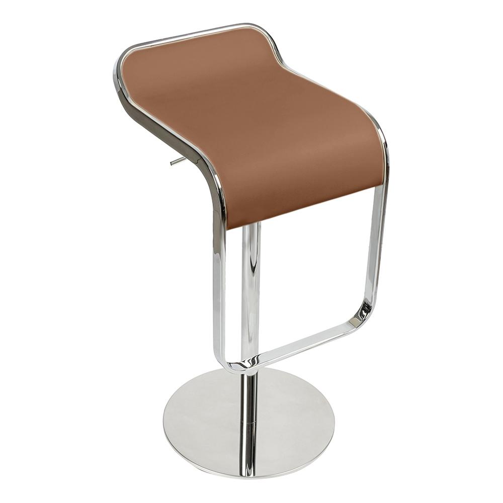 Барный стул LEM Style Piston Stool коричневая кожа - вид 4