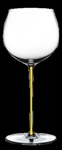 Riedel Fatto a Mano - Фужер Oaked Chardonnay 620 мл хрустальное стекло с желтой ножкой (stemglass) картон