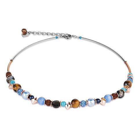 Колье Coeur de Lion 4864/10-0711 цвет коричневый, голубой, чёрный