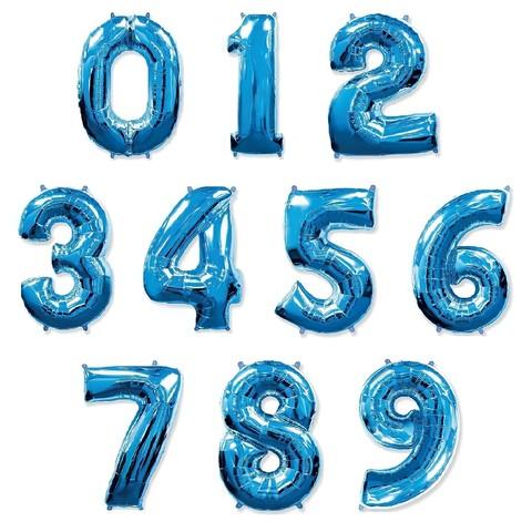 Фольгированные цифры Синие