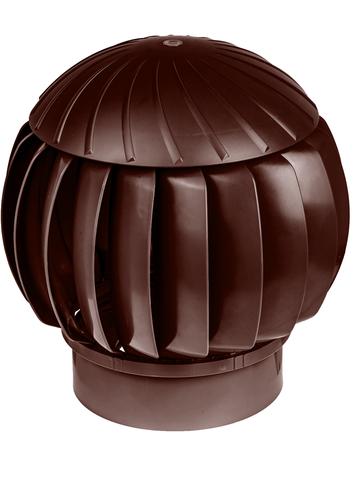 Турбина ротационная ERA RRTV D160 Brown, (Нанодефлектор), вентиляционная, пластик