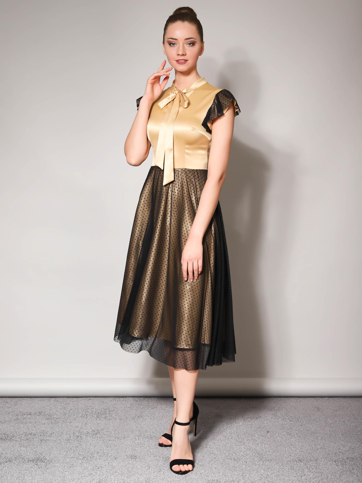 Вечернее платье (золото-черный)