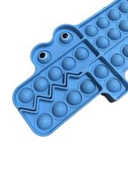 Поп Ит Игрушка антистресс Вечная пупырка Попит 23 х 13,5 см синий крокодил POP IT