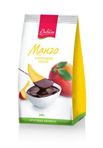 ВИВАЛЬ Манго в шоколадной глазури 240г