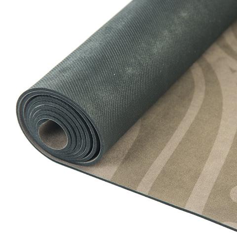 Коврик для йоги Тотем Brown 183*61*0,35 см из микрофибры и каучука