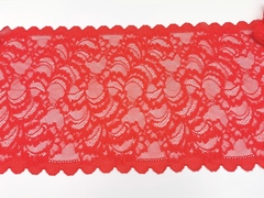 Эластичное кружево, ОПТ, красное, 23,5 см, (Арт: EK-2183), м