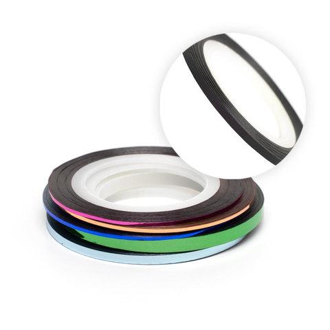 Нить на клеевой основе (черная) для дизайна ногтей