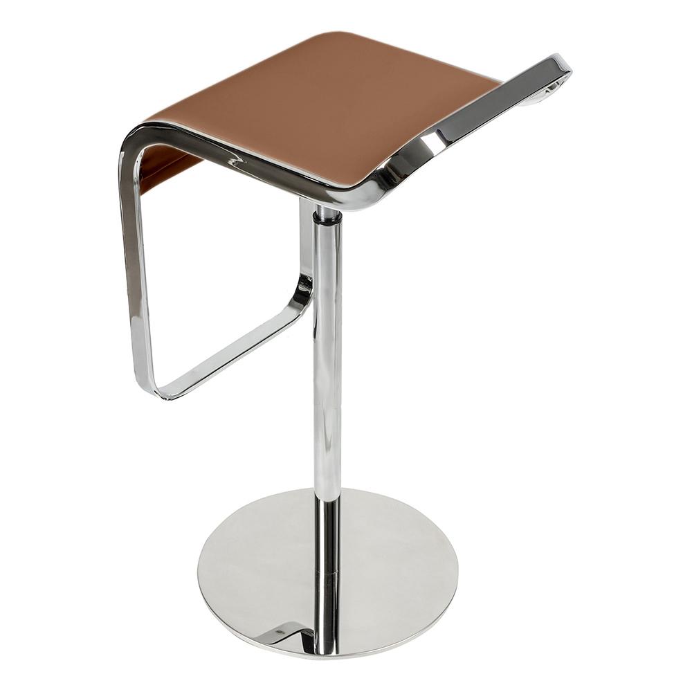 Барный стул LEM Style Piston Stool коричневая кожа - вид 5