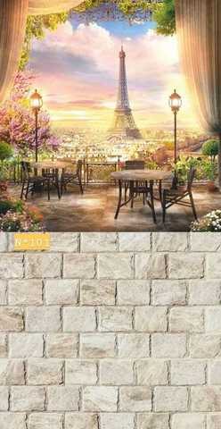Фотофон виниловый «Окно в Париж» №101