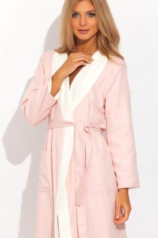 COSSETTE КОССЕТТЕ  розовый женский сатин махровый халат  Maison Dor Турция