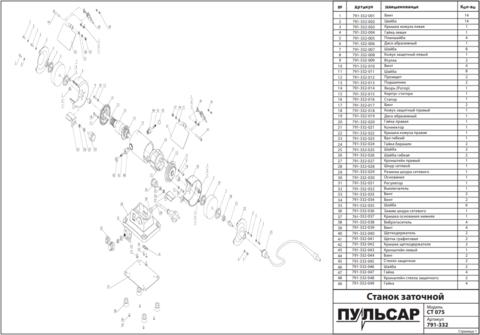 Втулка ПУЛЬСАР CT075 (791-332-009)