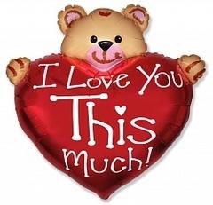 F Мини-фигура Мишка Я тебя люблю 14