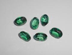 Зелёный топаз 8 x 6 мм овал