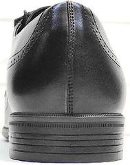 Осенние туфли мужские кожаные Ikoc 3416-1 Black Leather.