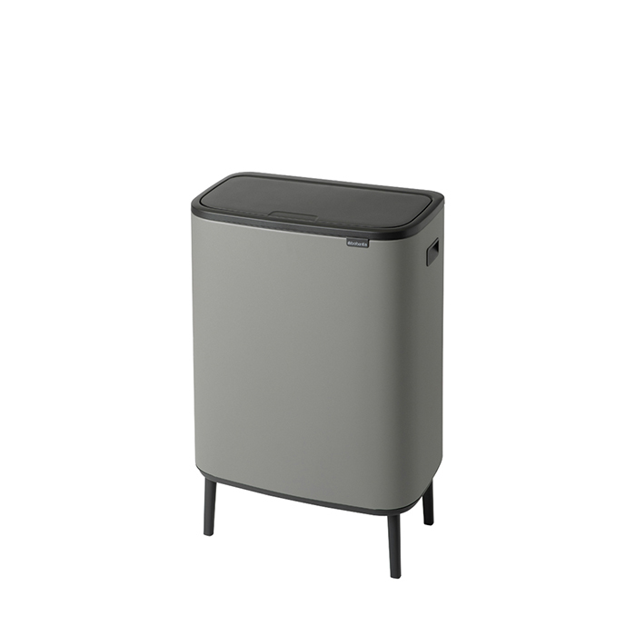 Мусорный бак Touch Bin Bo Hi (60 л), Минерально-серый, арт. 130281 - фото 1
