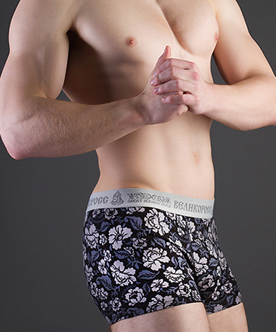 "Men's boxers VELIKOROSS ""Grey ornament"""