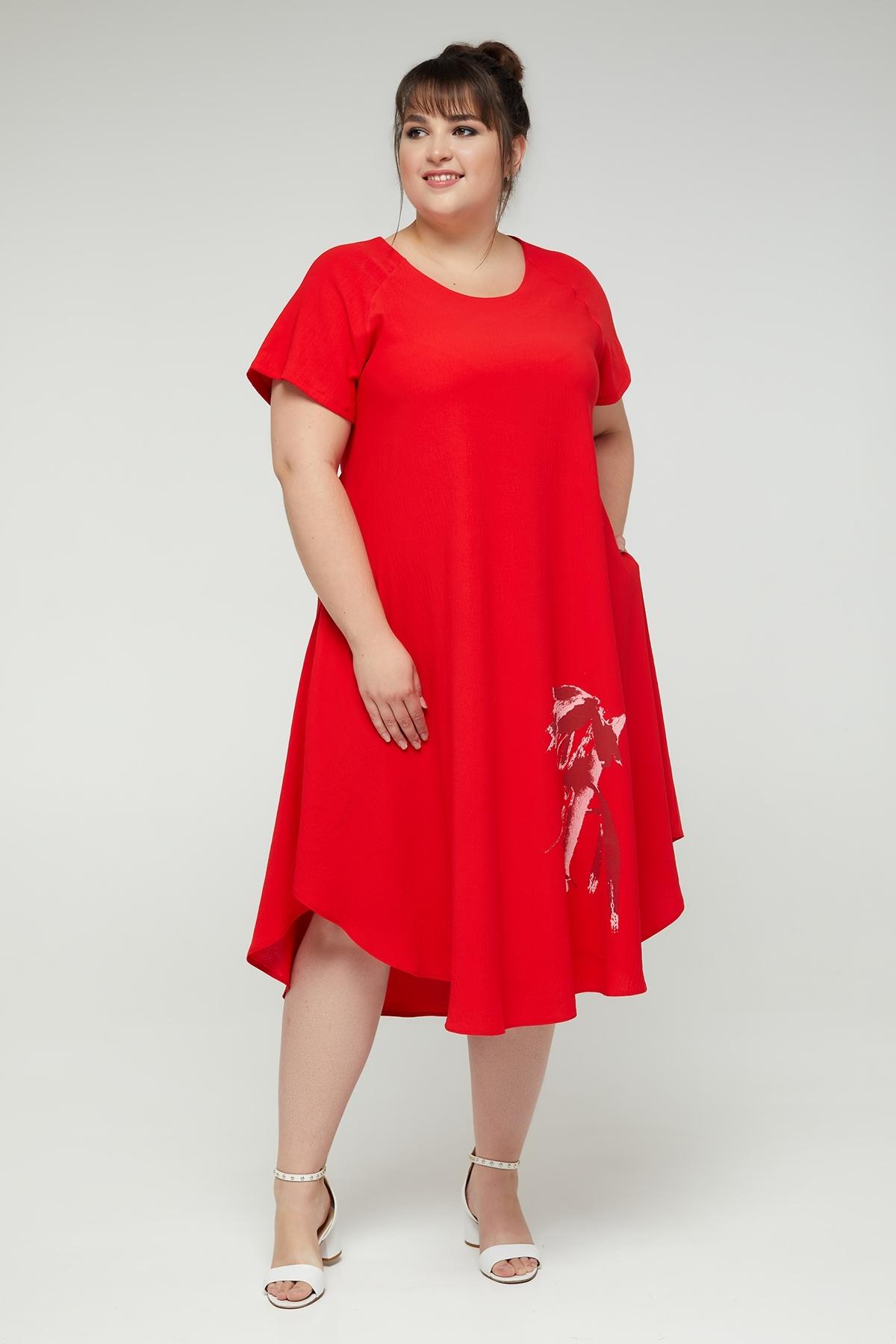 Платье Дженни (красный)