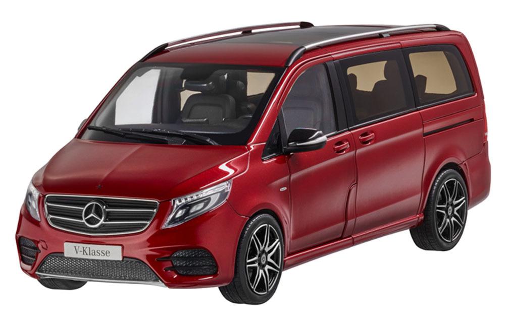 Коллекционная модель Mercedes-Benz V-Class BR447 AMG Line 2017 Designo Hyacinth Red Metallic