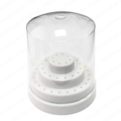 Подставка для фрез круглая (3 уровня) Белая White на 48 шт. G-96-WH