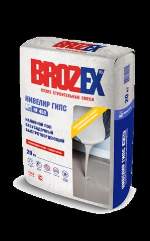 Наливной пол Brozex Нивелир гипс NF 450 20 кг