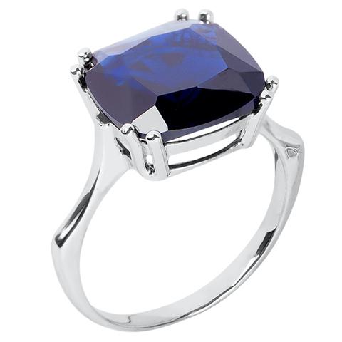 Кольцо из серебра с корунд сапфиром Арт.1181кс