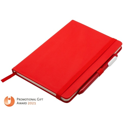 Antibacterial Set (Notebook and Pen), red