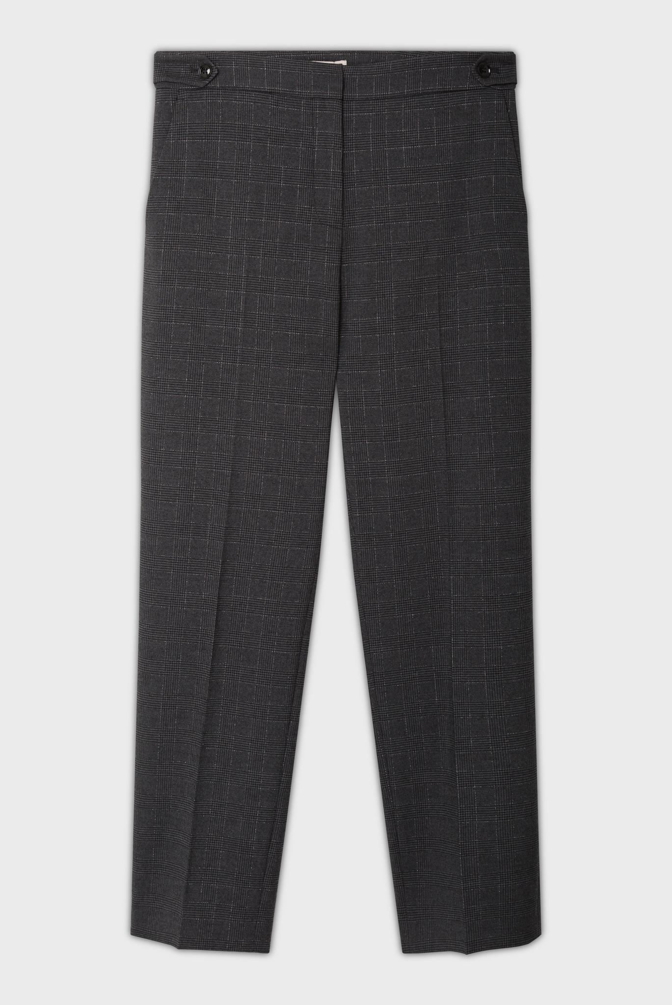 JULIEN - Клетчатые брюки с люрексом