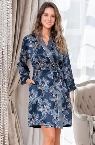 Короткий шелковый халат Mia Amore Vanessa (70% нат.шелк)