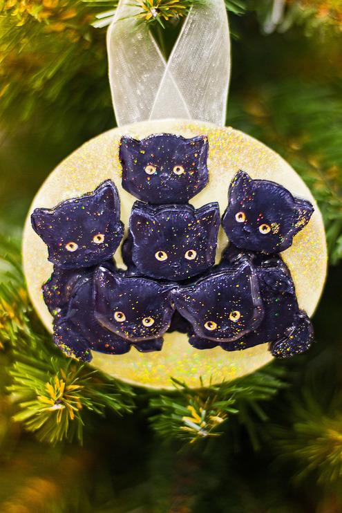 Папертоль Букет котят — пример оформленной работы.