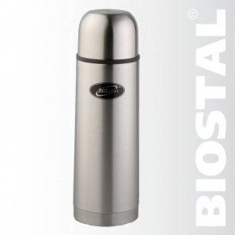 Термос Biostal NB-1000 1,0л. (узкое горло, 2 пробки)