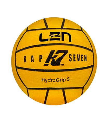 Официальный ватерпольный мяч KAP7 Official LEN Game Ball K7 5 yellow Размер 5 мужской арт.B-K7-LEN-5-01