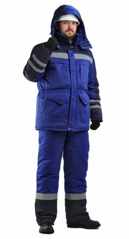 Костюм Зимник утепл.(куртка,брюки) цв.вас.с синим
